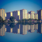 Waterside city house in Beijing — Stock Photo