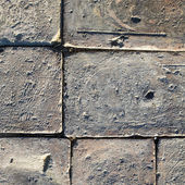 Bricks on the ground, texture background — Stock Photo