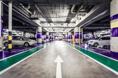 Underground parking aisle — Foto de Stock
