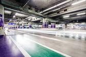 Underground parking aisle — Stock Photo