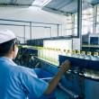 Stock Photo: Drinks production plant in China