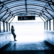 Passenger in the subway station in Kuala Lumpur — Stock Photo