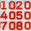 Stock Photo: Collage of textural numbers