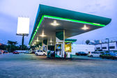 Gas station at night — Stock Photo