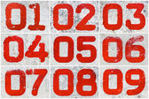 Collage of textural numbers — Stock Photo
