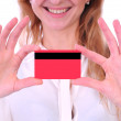 Stock Photo: Girl With Credit Card