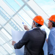 Group of architects working on a project — Stock Photo #21028651
