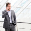Businessman Talking on his Mobile Phone — Stock Photo