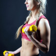 Stock Photo: Woman practicing fitness