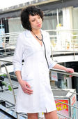 Medical doctor lady in the office — 图库照片
