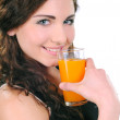 Girl drinking juice — Stock Photo #22276753