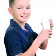 Stock Photo: Boy drinking milk