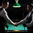 Young professional are welcome to play snooker. Billiards — Stock Photo