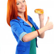 Royalty-Free Stock Photo: Woman eat burger