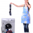 Washing socks — Stock Photo