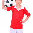 Teenage boy playing football. - Foto Stock