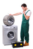 Repairing washing machine — Stock Photo