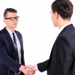 Two business men shaking hands, isolated on white — Stock Photo