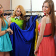 Stock Photo: Girls shopping in retail store