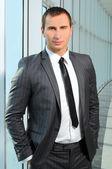 Portrait young businessman — Stock Photo