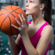 Stock Photo: Bascketball Woman