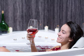 Woman Takes Bath — Stock Photo