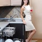 Kitchen Woman — Stock Photo