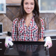 Stock Photo: Kitchen Woman