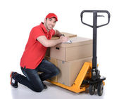 Courier — Stock Photo