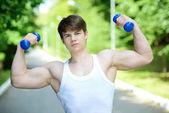 Al aire libre fitness — Foto de Stock