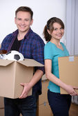 Moving to house — Stock Photo
