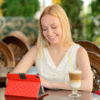 Woman In Cafe — Stock Photo #49899261