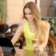 Woman In Cafe — Stock Photo #49899475