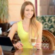 Woman In Cafe — Stock Photo #49899477