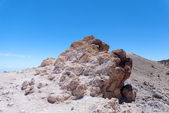 White rocks in Park Canadas del Teide — Stock Photo