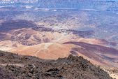 Lava crater in Park Canadas del Teide — Stock Photo