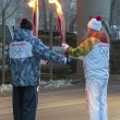 Olympic fire in Ekaterinburg — Stock Photo