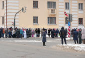 Olympic torch relay in Ekaterinburg, Russia — Stock Photo