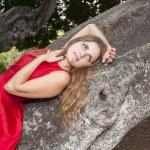 Beautiful young woman outdoors — Stock Photo #41024853
