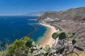 Panorama of the beach Las Teresitas, Tenerife — Foto Stock