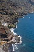 Panorama of the beach Las Teresitas, Tenerife — Stock fotografie