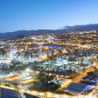 Aerial view of night city. Santa Cruz de Tenerife — Stock Photo #50128199