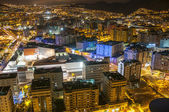 Aerial view of night city. Santa Cruz de Tenerife — Stock Photo