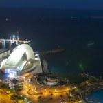 Aerial view of night city. Santa Cruz de Tenerife — Stock Photo #50131501
