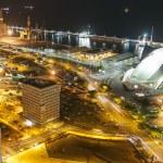Aerial view of night city. Santa Cruz de Tenerife — Stock Photo #50131521