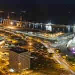 Aerial view of night city. Santa Cruz de Tenerife — Stock Photo #50131647
