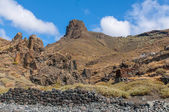Black sand volcanic beach. Tenerife Island — Zdjęcie stockowe