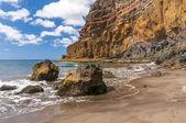 Black sand volcanic beach. Tenerife Island — Stockfoto