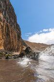 Black sand volcanic beach. Tenerife Island — Foto Stock