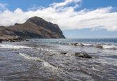 Black sand volcanic beach. Tenerife Island — Foto de Stock
